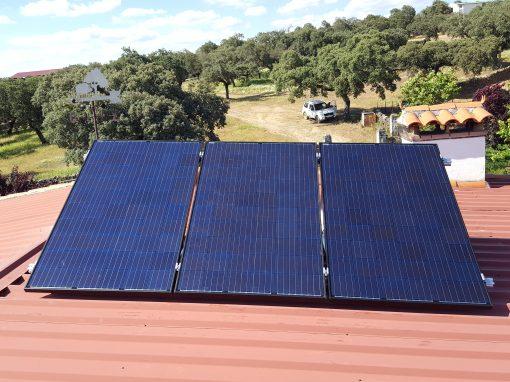 Instalación Fotovoltaica aislada en Valle de Santa Ana