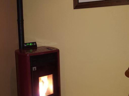Instalación estufa de pellets 14 kW en Santa Amalia