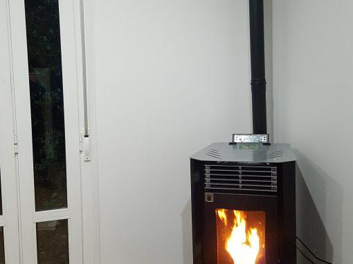 Instalación de estufa de pellets Basic 9,5 kW en Jerez de los Caballeros