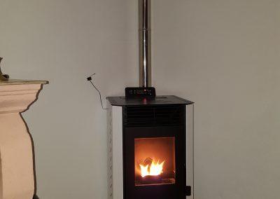 Instalación Estufa de pellets 9 kW en Valle de Matamoros,estufa de pellet barata, estufa de pellet blanca, pellet, bioamasa