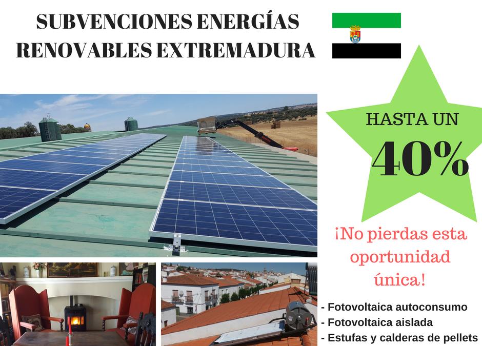 SUBVENCIÓN ENERGÍAS RENOVABLES EXTREMADURA